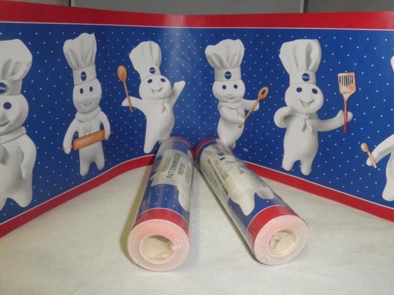 Htf 3 Rolls Pillsbury Doughboy Wallpaper Border 45 Discontinued 15 800x600