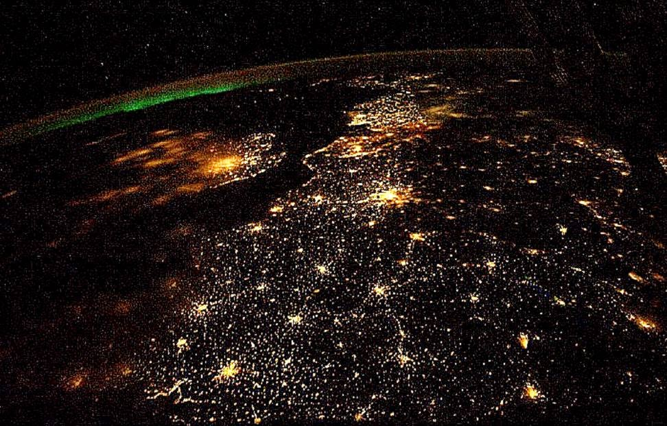 Earth From Space At Night Wallpaper 38728 Hd Wallpapers in Space 972x621