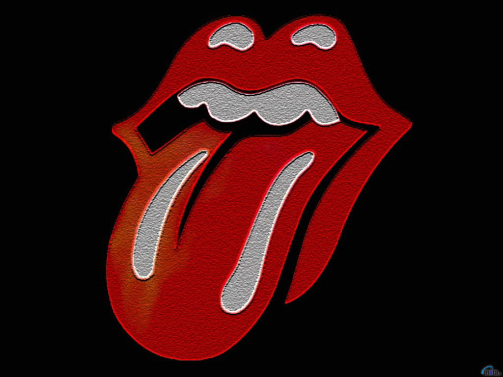 Wallpaper black red lips Rolling Stones The Rolling 1024x768