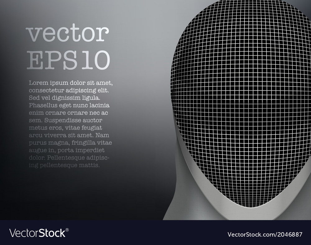 Fencing mask background Royalty Vector Image 1000x787