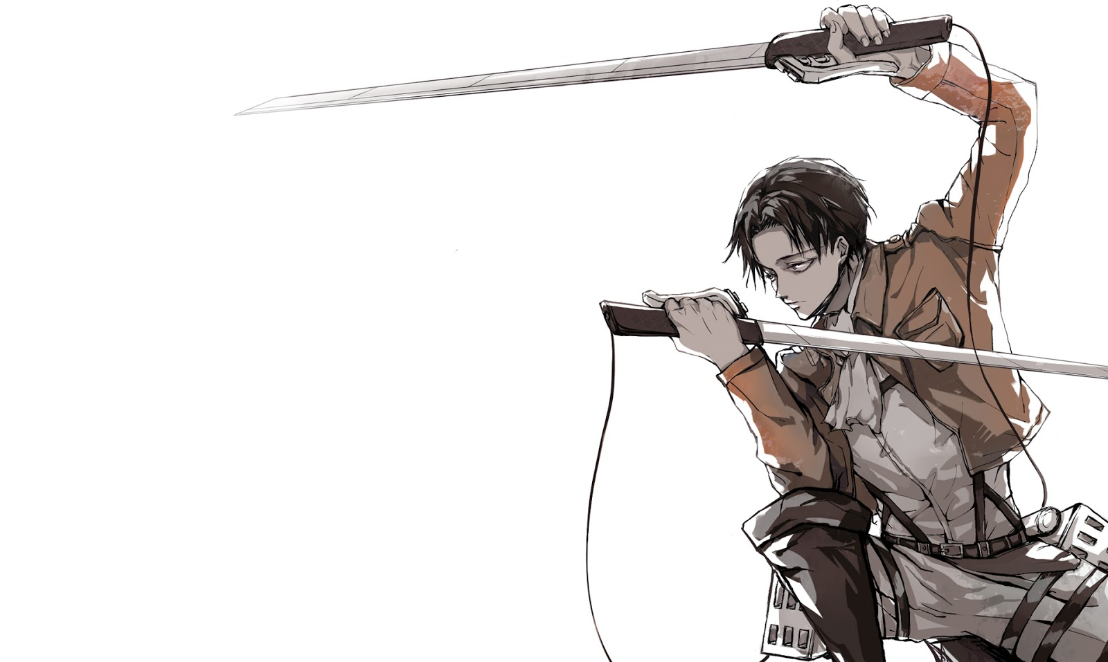 Kyojin Levi Rivaille Anime Blade Sword HD Wallpaper Desktop Background 1600x957