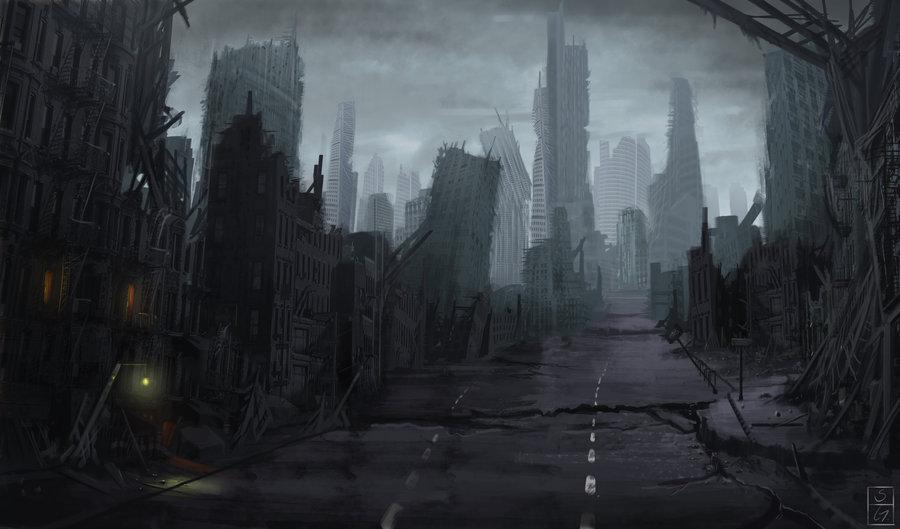 76 Destroyed City Background On Wallpapersafari