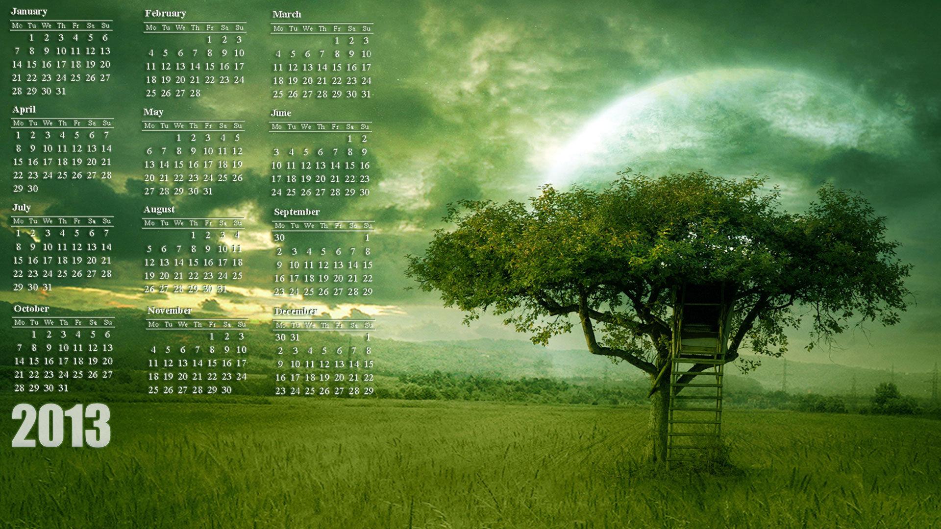 2013 Calendar Desktop Background Wallpaper 19201080 1920x1080