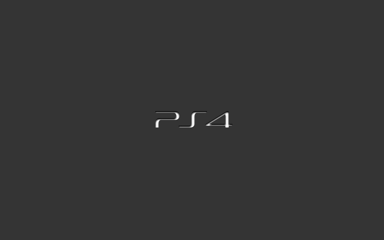 PS4 official logo wallpaper 1280x800