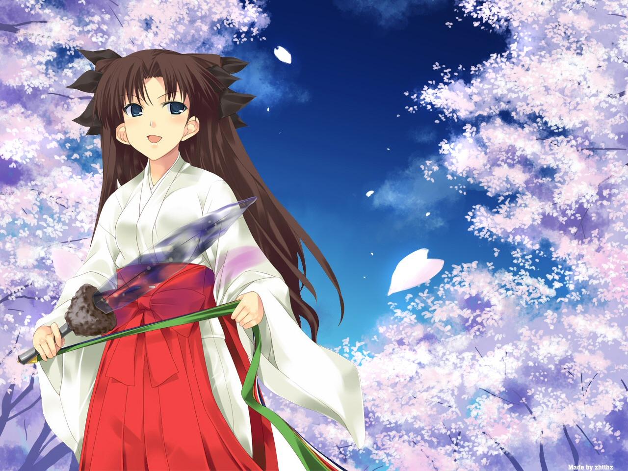 Muryou Anime Wallpaper Fate Stay Night Tousaka Rin 1280x960