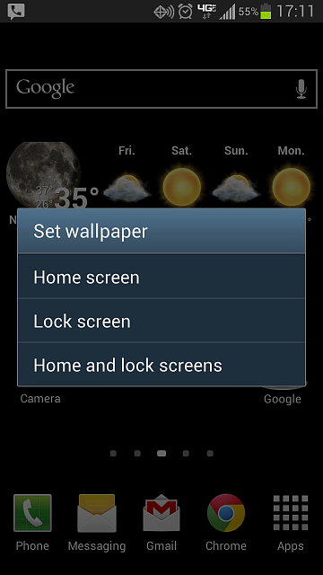 change lock screen wallpaper android phone