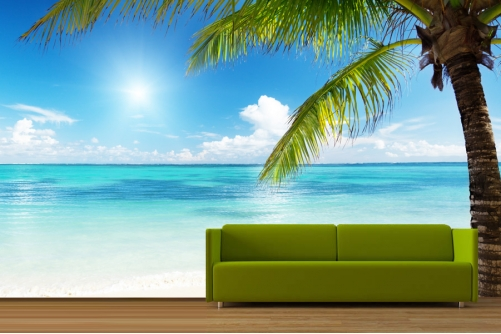 Beach Island Paradise Wallpaper 501x334