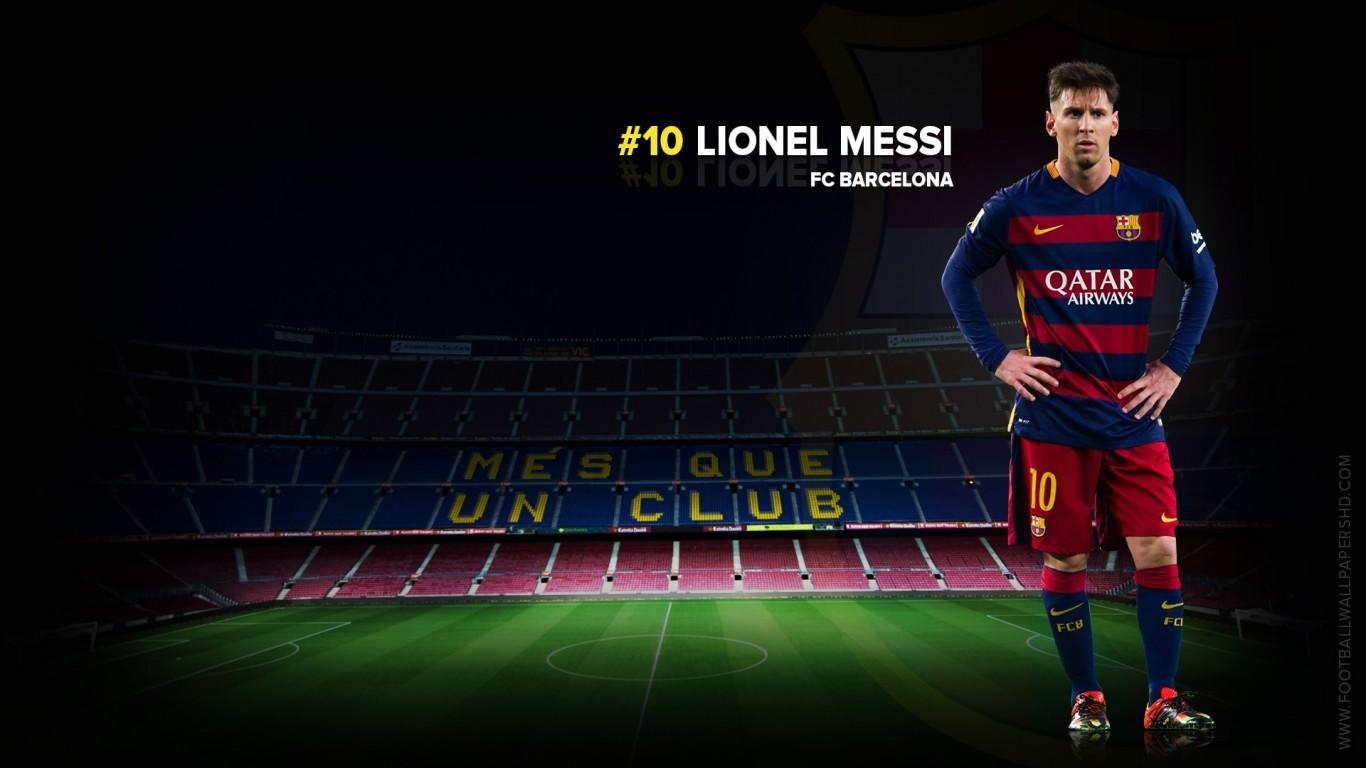 Lionel Messi FC Barcelona 20152016 Wallpaper   Football Wallpapers HD 1366x768