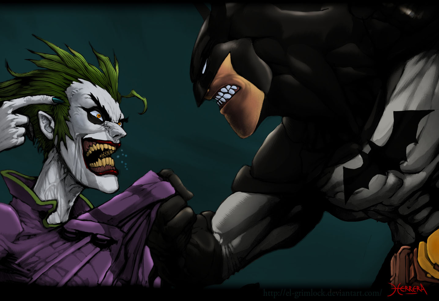 sfondi desktop batman vs joker 1435x984