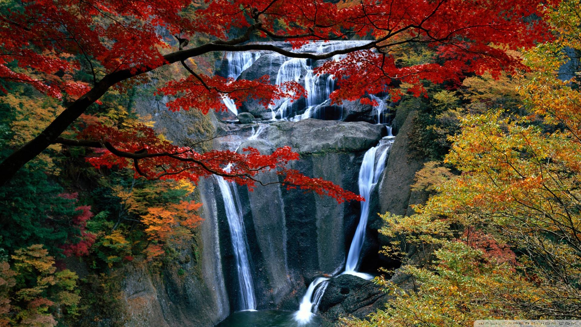 Waterfall Autumn Wallpaper 1920x1080 Waterfall Autumn 1920x1080