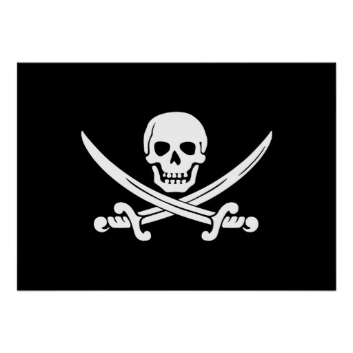 Jolly Roger Pirate Flag Poster 512x512