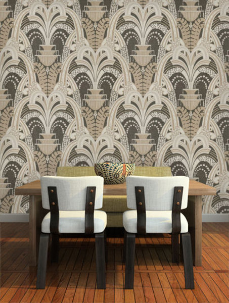 Zoffany Tivoli Charcoal 311039 Roomset shown in same or different 453x600