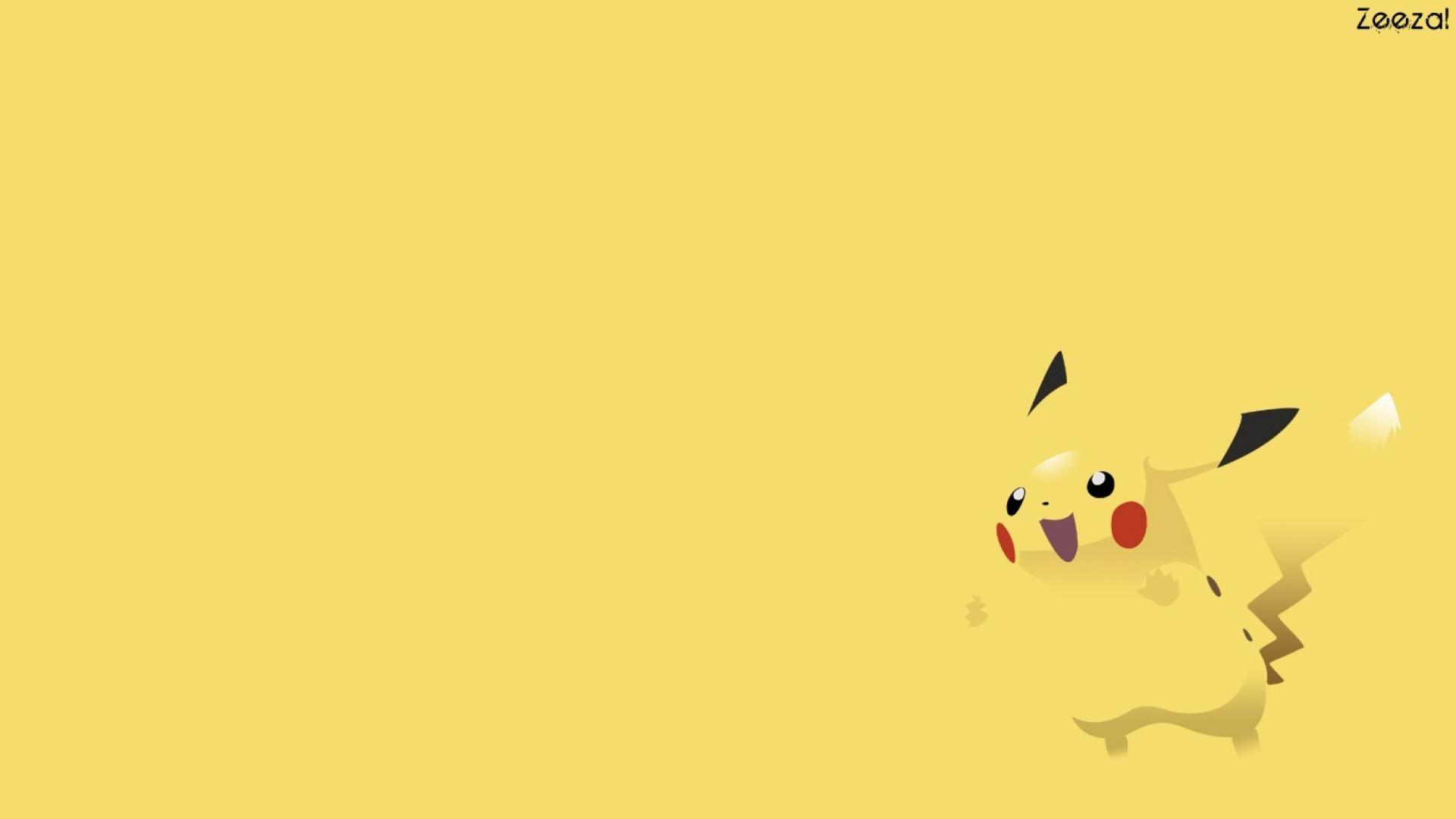 Pokemon minimalistic pikachu wallpaper 9129 1920x1080