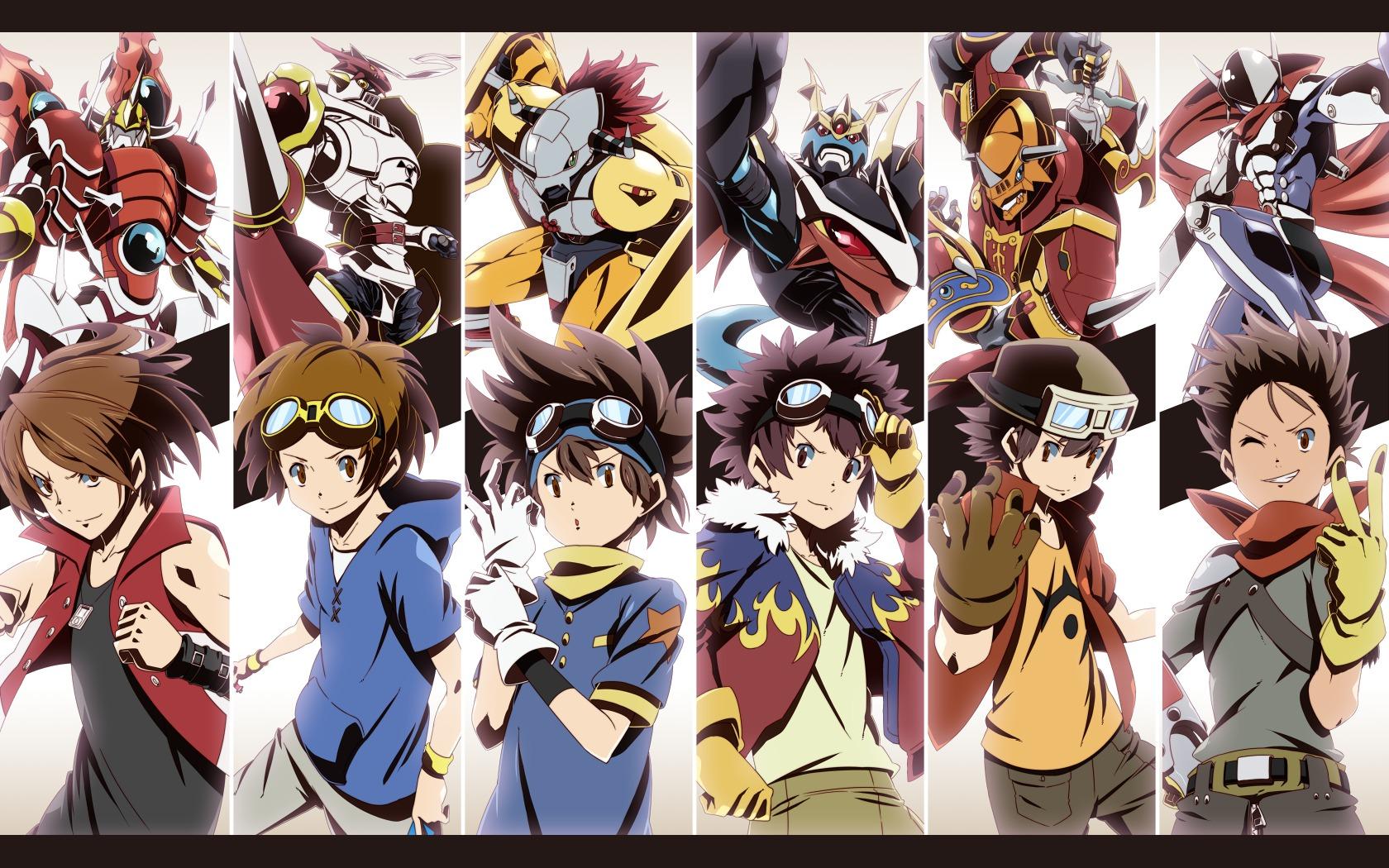 Digimon Team Leaders Anime Art Cool Davis Epic Goggles Wallpaper 1680x1050