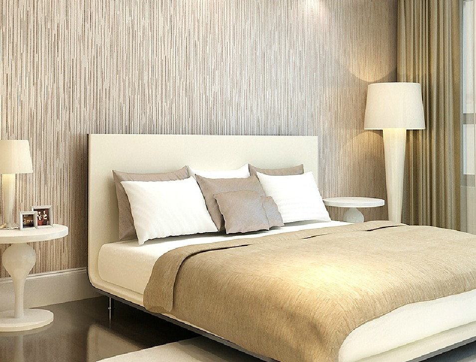 Free download Modern minimalist bedroom with wood grain wallpaper ...