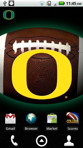 licensed Oregon Ducks Revolving Wallpaper app with the background 288x512