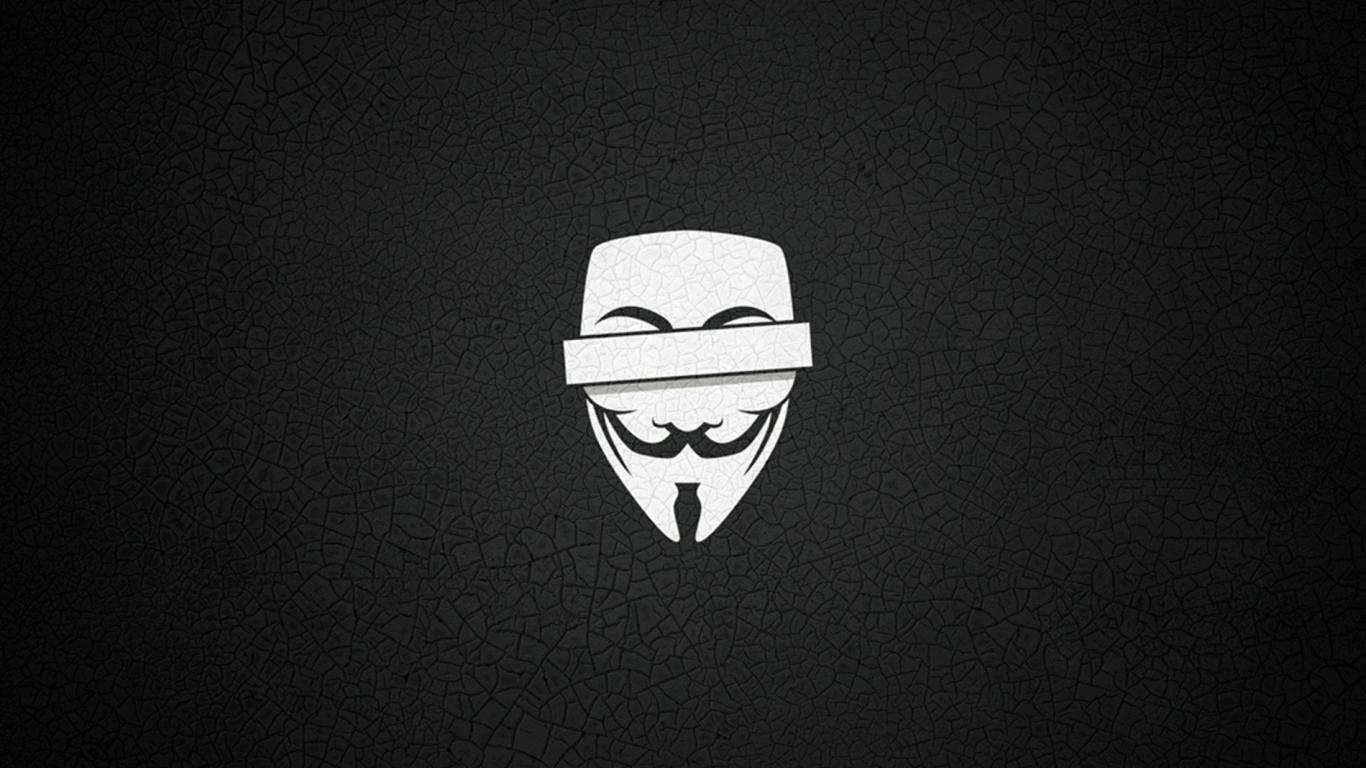 Anonymous wallpaper 1366x768 wallpapersafari - Background anonymous ...