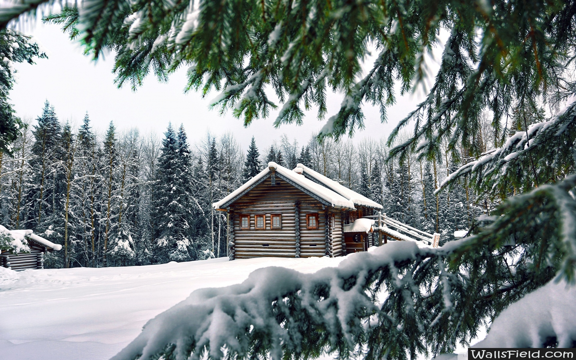 Mountain Retreat Winter   Wallsfieldcom HD Wallpapers 1920x1200