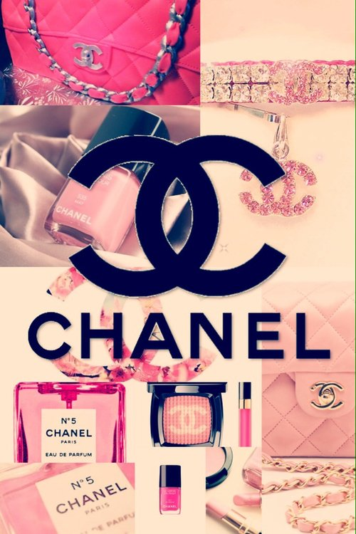 Group of Pretty In Pink Chanel Vintage Wallpaper We Heart It 500x750