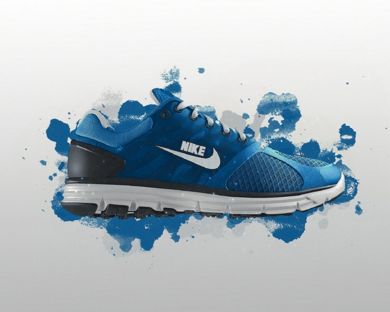 Blue Nike Shoes Air Wallpaper Image 14274 Wallpaper Wallpaper 1280x1024