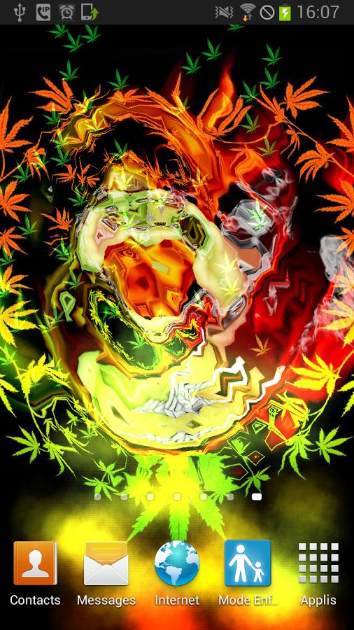 Skull Smoke Weed Parallax LWP   Aplicaciones Android en Google Play 506x900
