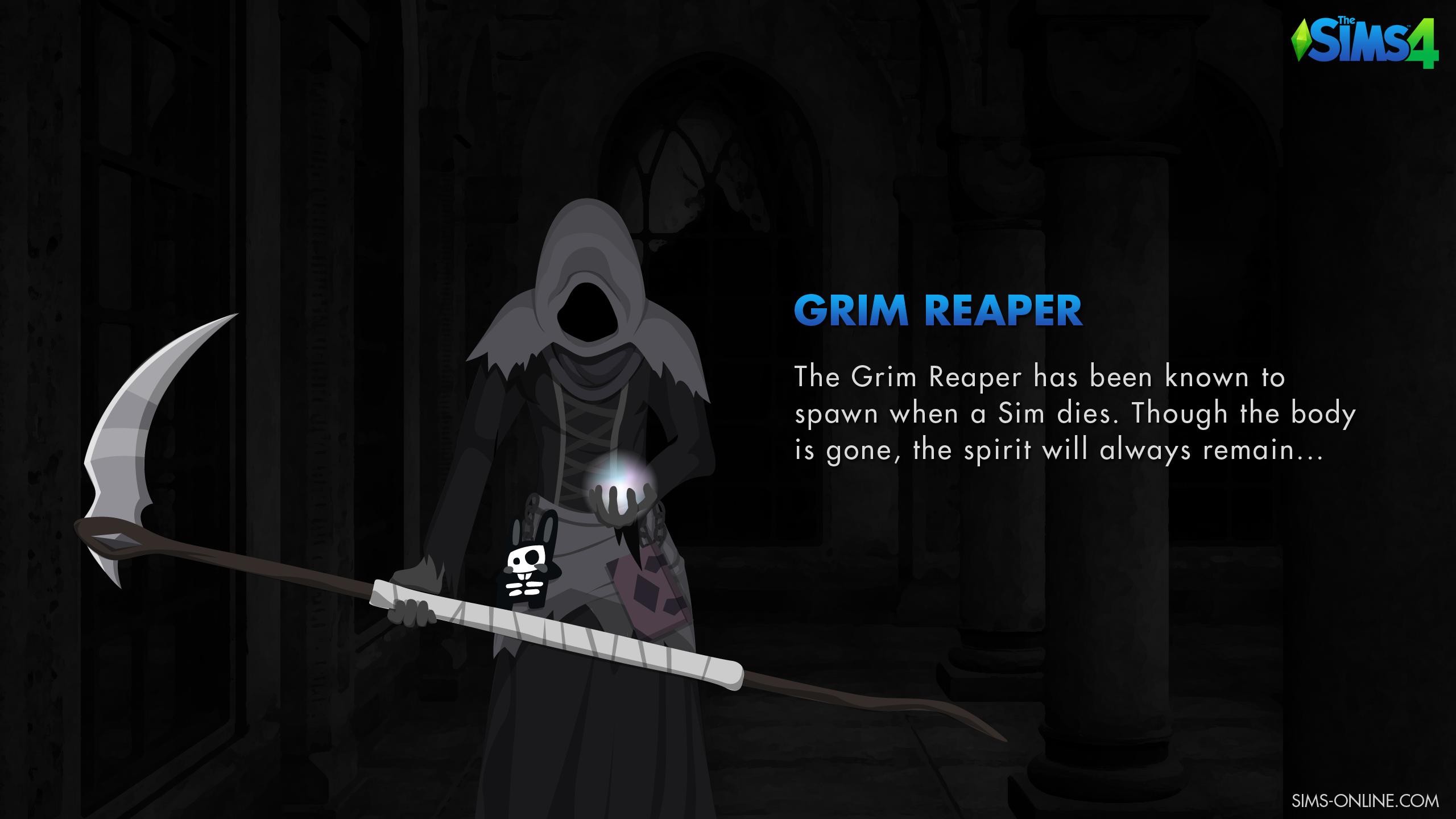 The Sims 4 Grim Reaper Wallpaper   Sims Online 2560x1440