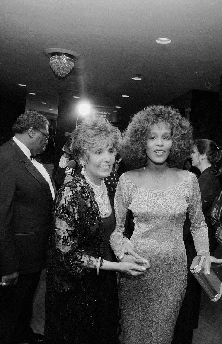 Whitney with Lena Horne   beautiful Music Pinterest 736x1139