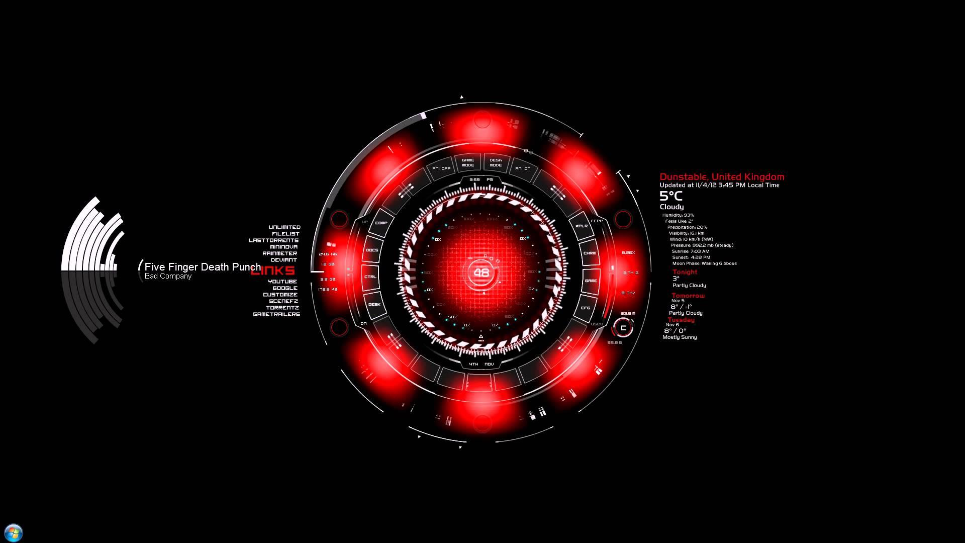 Red Arc Reactor 1920x1080