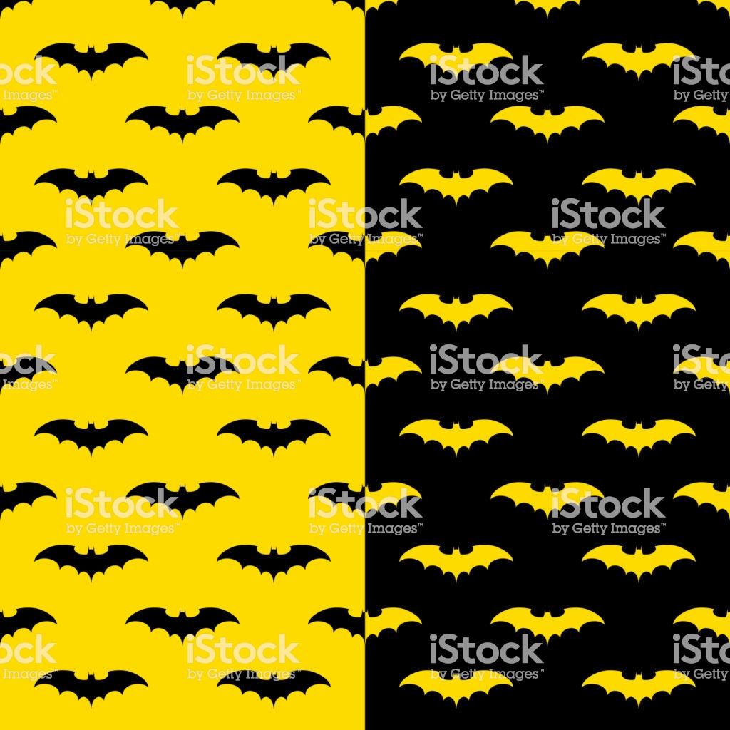 Bats Seamless Pattern With Black And Yellow Background Batman 1024x1024
