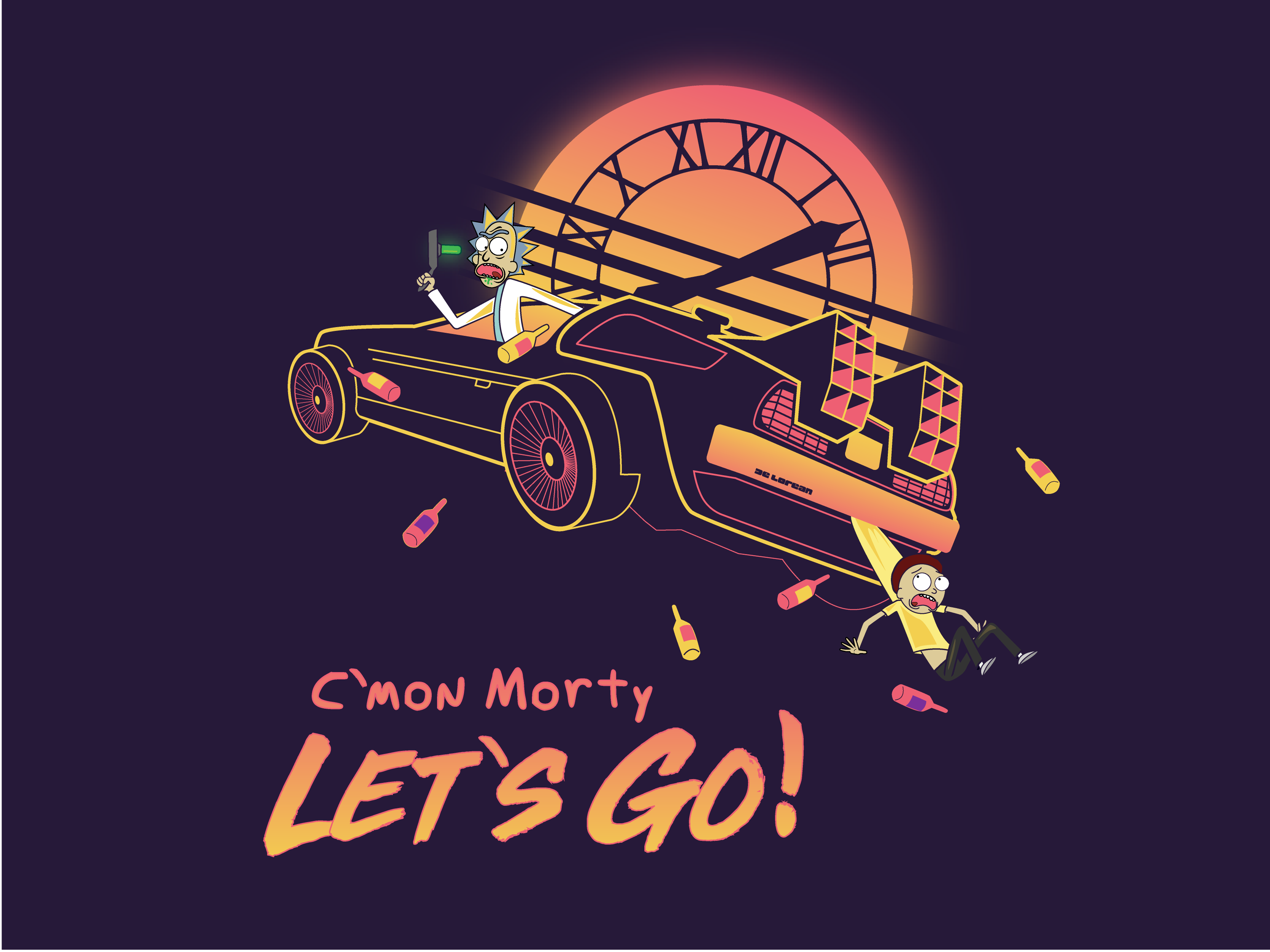 Cmon Morty Lets Go by Gary Kunkel on Dribbble 3333x2500