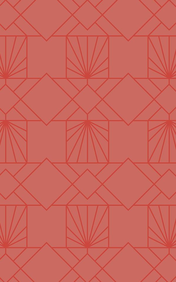 Orange Geometric Pattern Wallpaper Modern Style 600x960