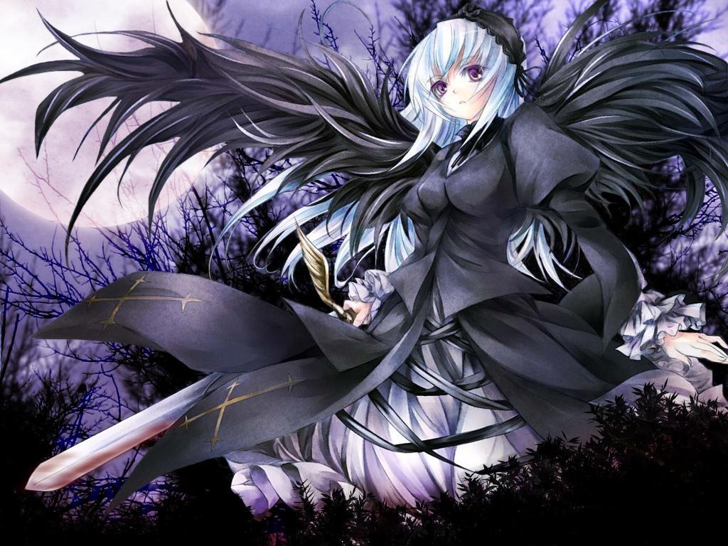 Anime gothic angel wallpaper wallpapersafari - Anime wallpaper angel ...