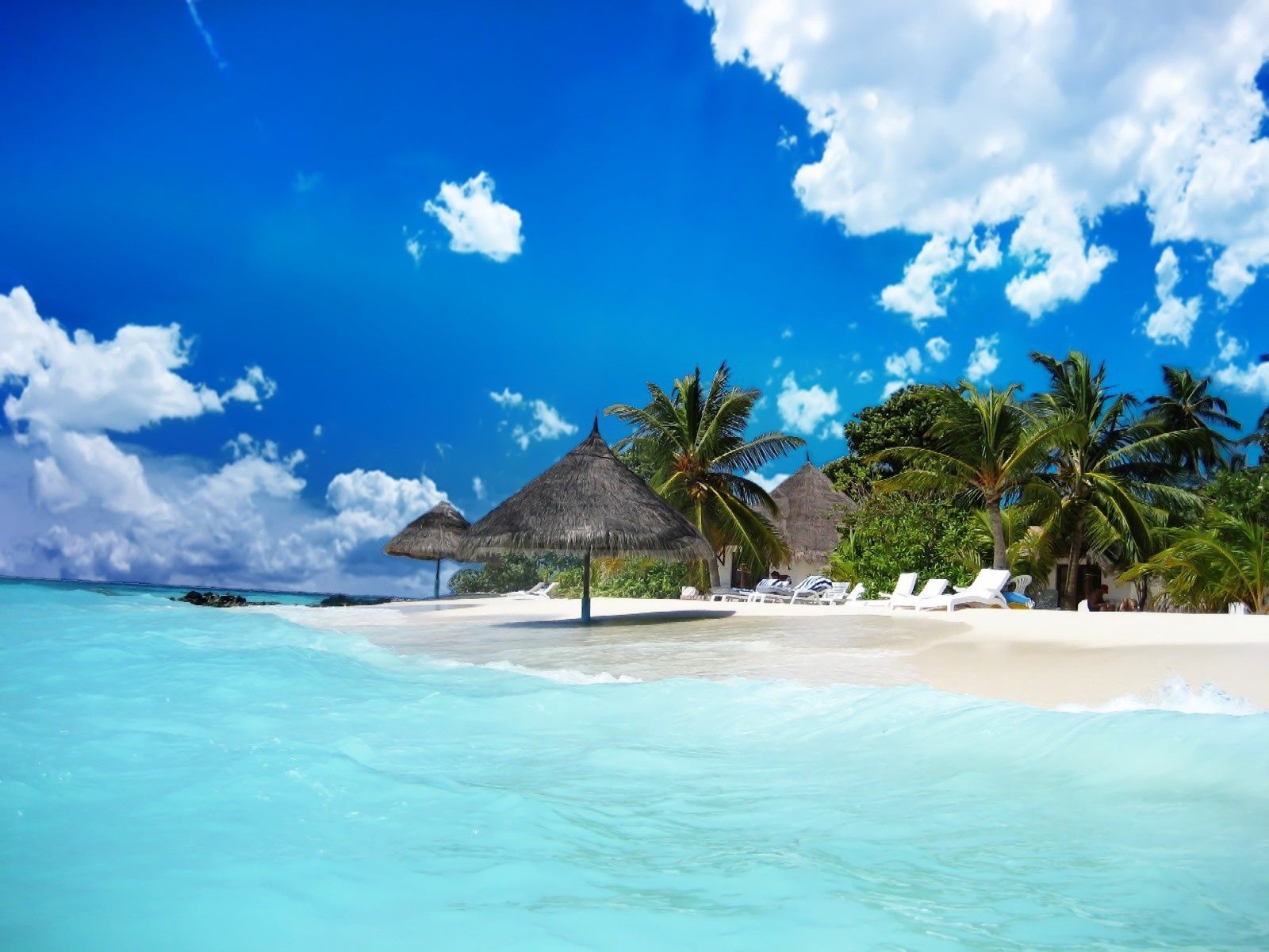Paradise Beach Wallpaper 652 HD Wallpaper 3D Desktop Backgrounds 1600x1200