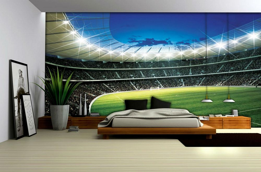 Manchester United Stadium Wallpaper For Bedroom Memsahebnet - Bedroom wallpaper