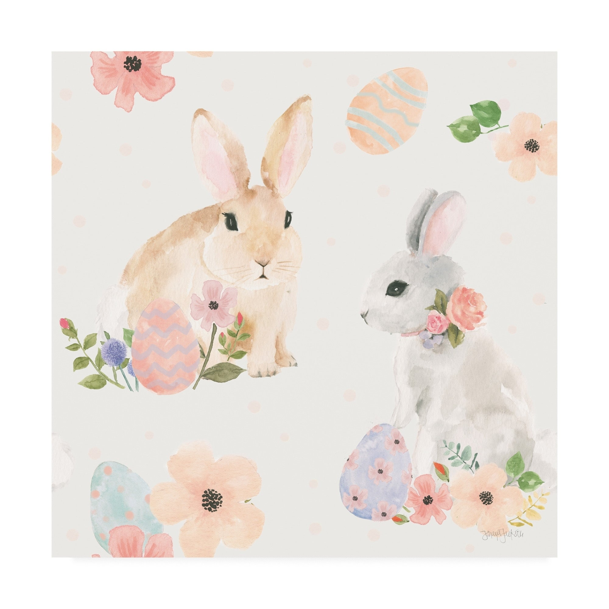 Shop Jenaya Jackson Spring Sentiments Pattern IIIB Eggs Canvas 2000x2000
