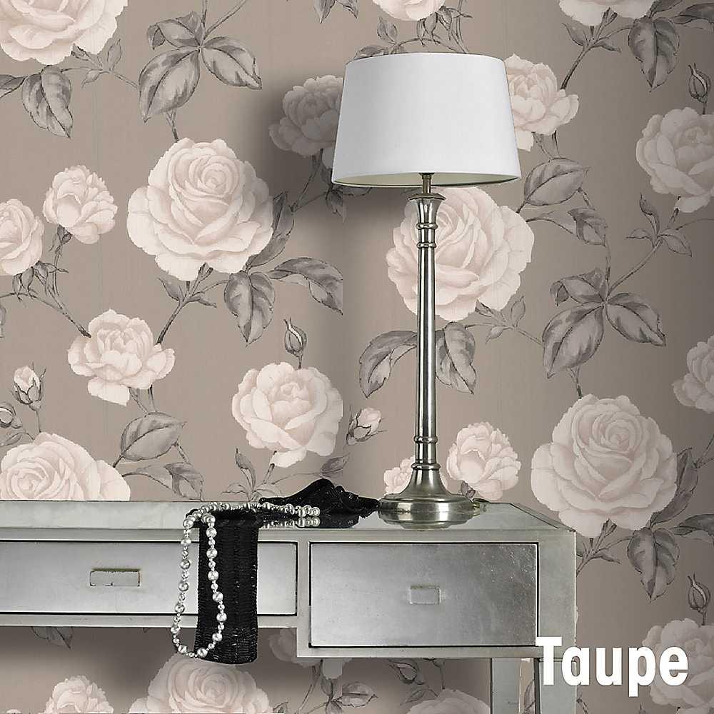 Graham Brown Countess Wallpaper   Taupe Wallpaper House Garden 1000x1000