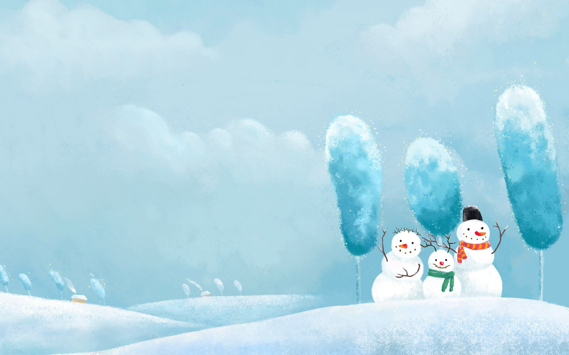 Winter Snowman Screensavers wallpaper wallpaper hd background 1920x1200