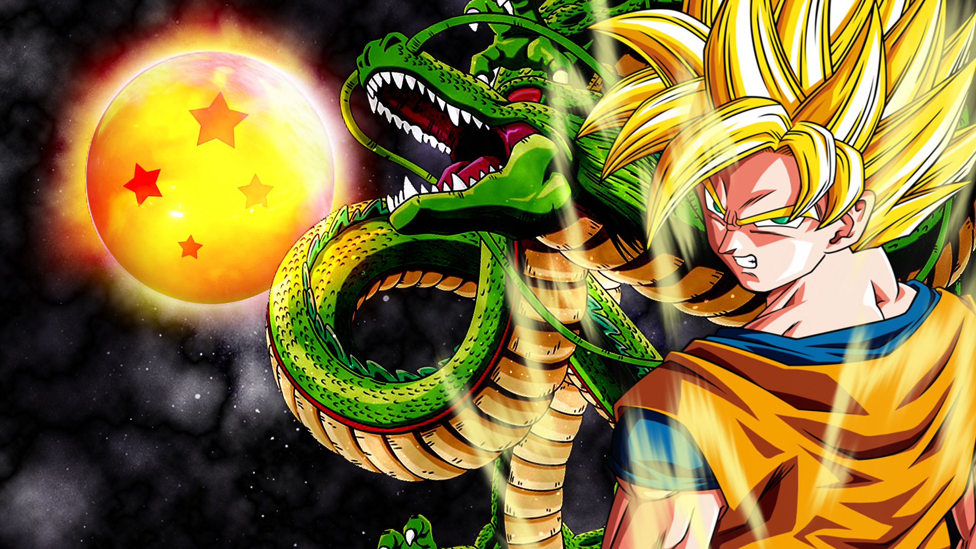 Goku ssj wallpaper by vuLC4no 1920x1080