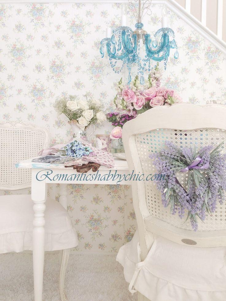 Floral shabby chic wallpaper Wallpaper and Murals Pinterest 736x981