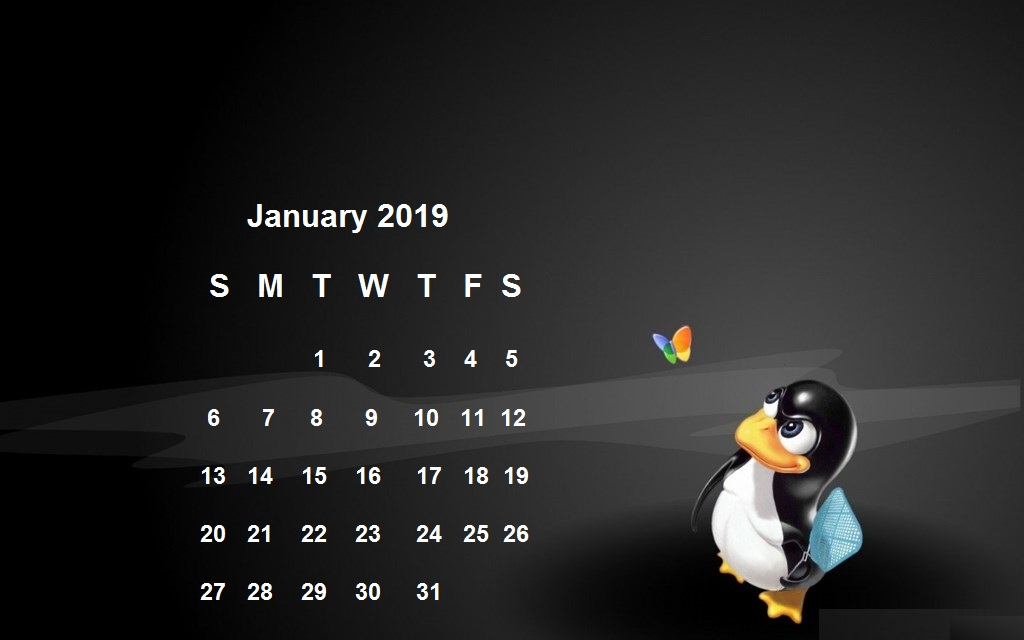January 2019 Desktop Background Wallpaper Latest Calendar 1024x640