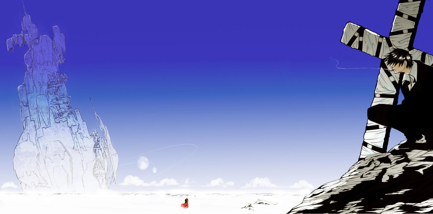 Nicholas D Wolfwood   Trigun   Zerochan Anime Image Board 1417x700