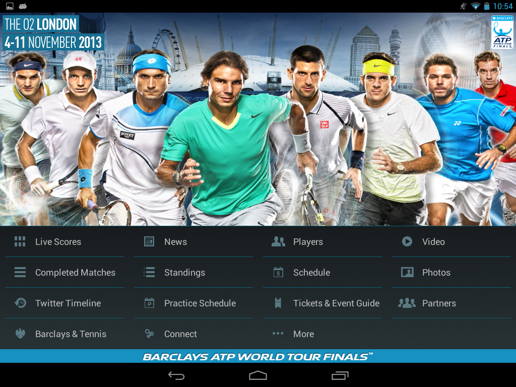 Barclays ATP World Tour Finals   Android Apps on Google Play 1024x768