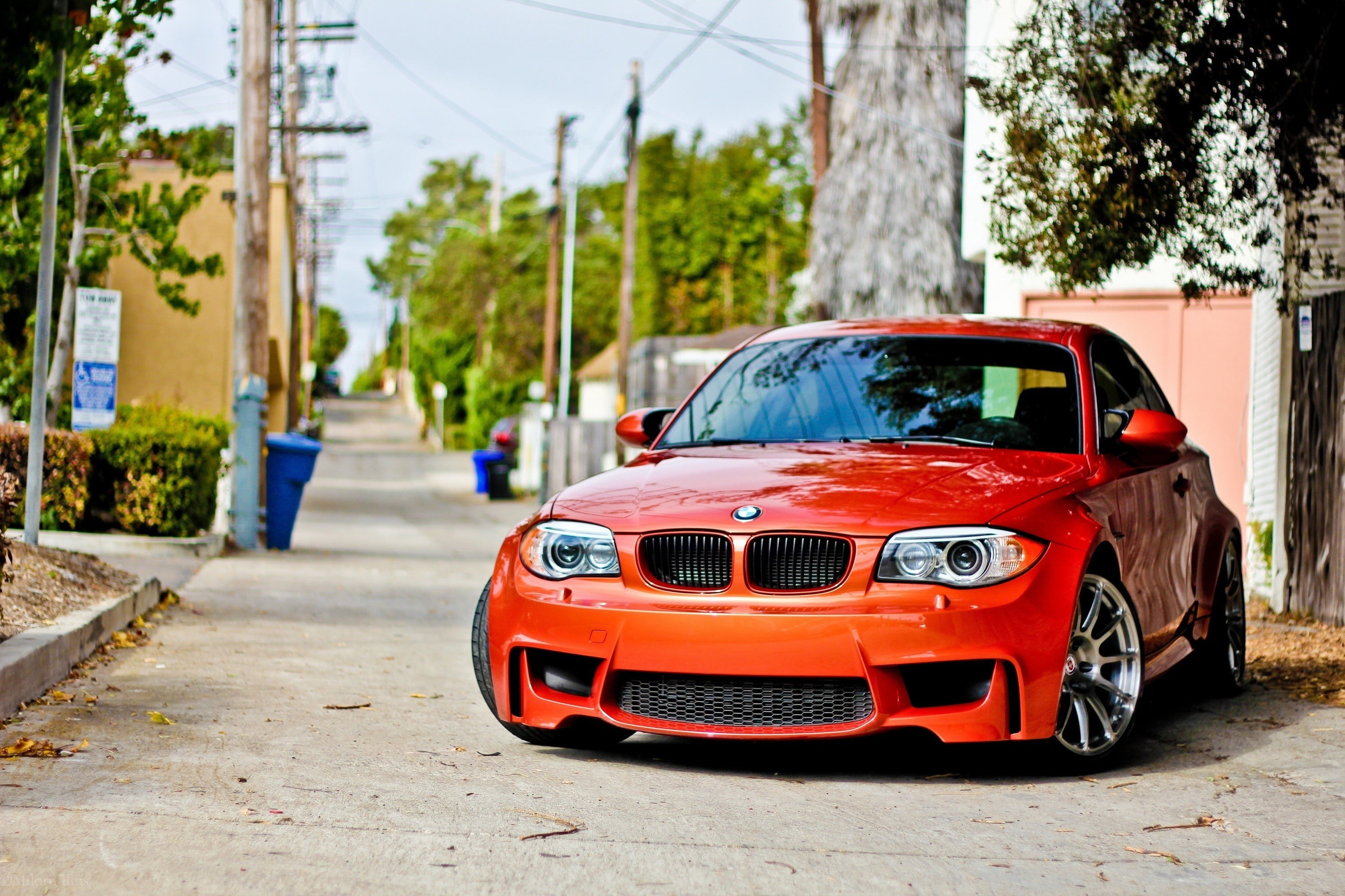 Red BMW car car BMW BMW 1M 1M HD wallpaper Wallpaper Flare 3000x2000