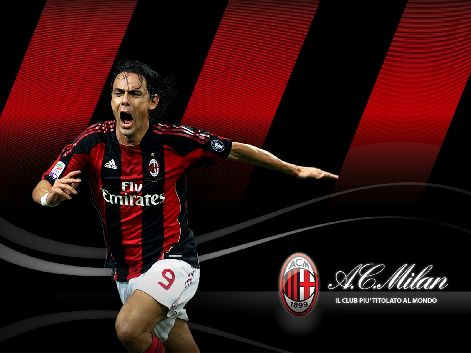 Filippo Inzaghi Ac Milan HD Wallpaper   HD Wallpaper HD Wallpaper 1600x1200