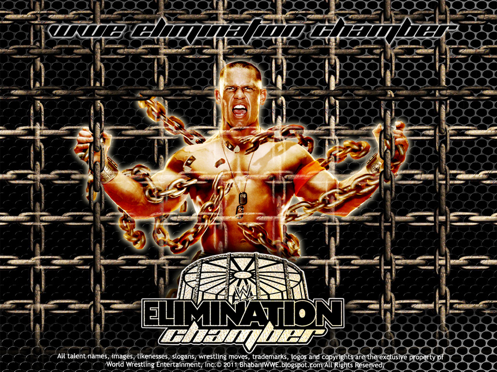 WWE John Cena Elimination Chamber 2011 Wallpaper 1024x768