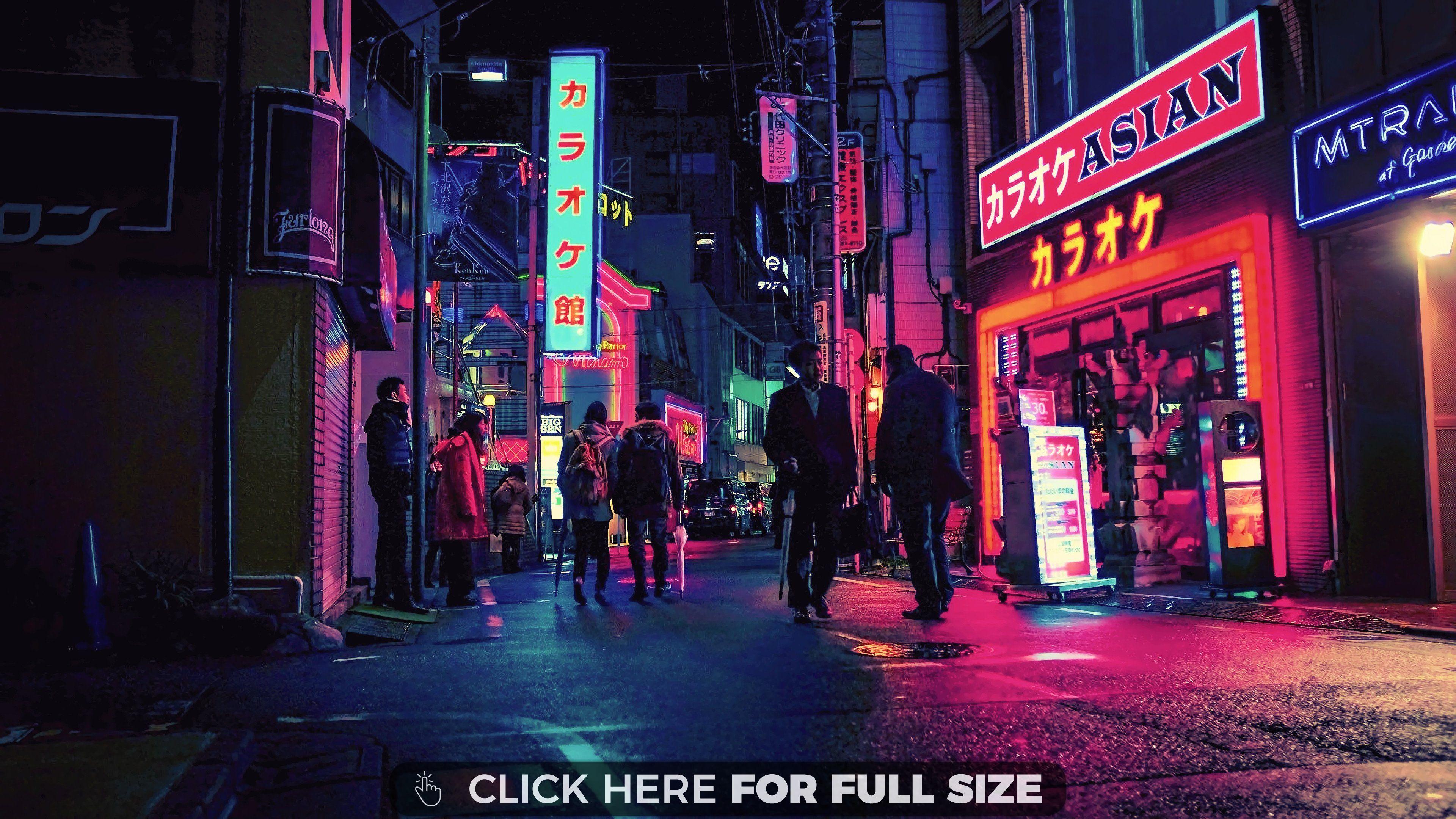Neon Japan wallpaper con imgenes Fotografa nen Fotografia 3840x2160