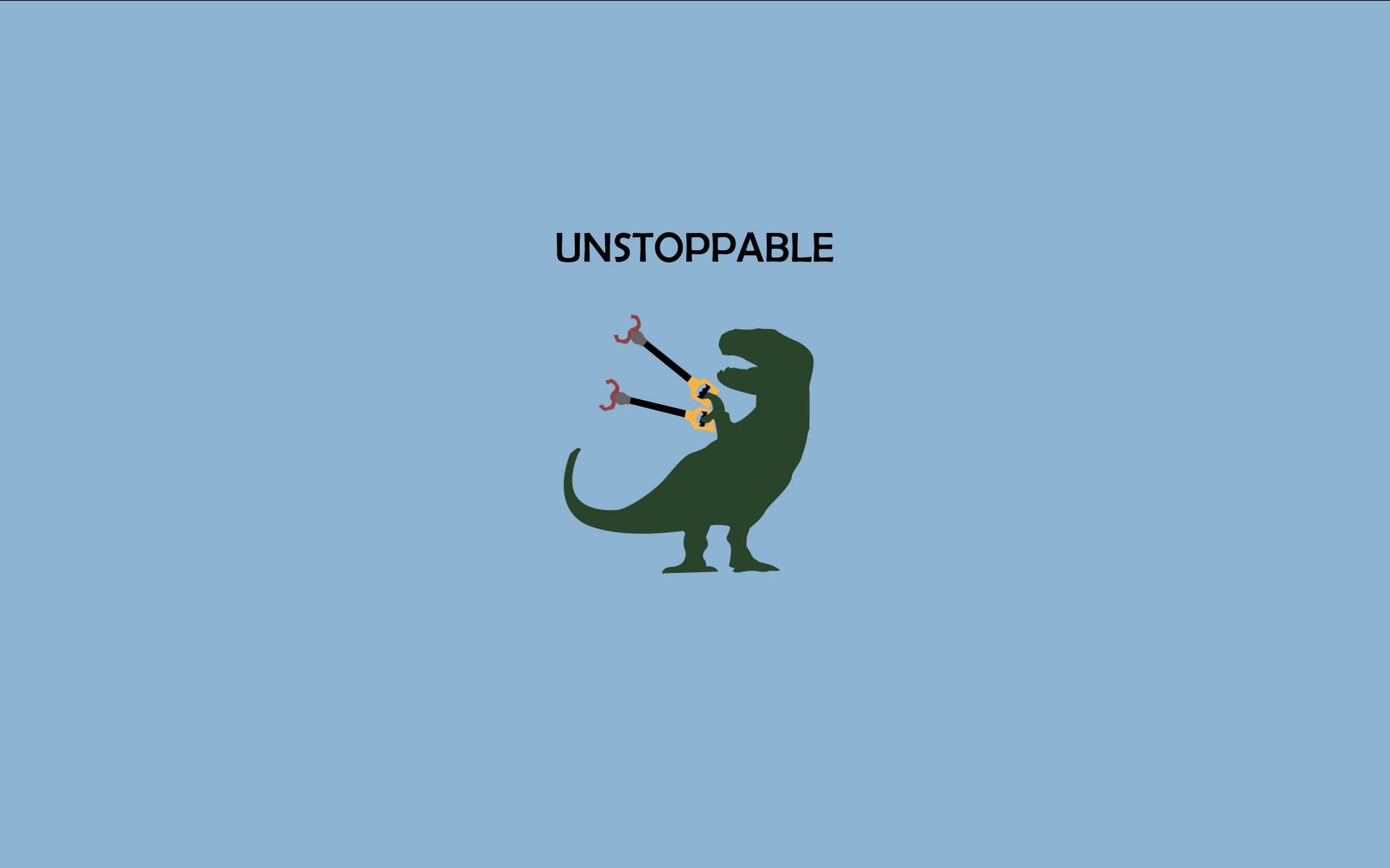 Green T rex illustration with unstoppable text overlay 1920x1200