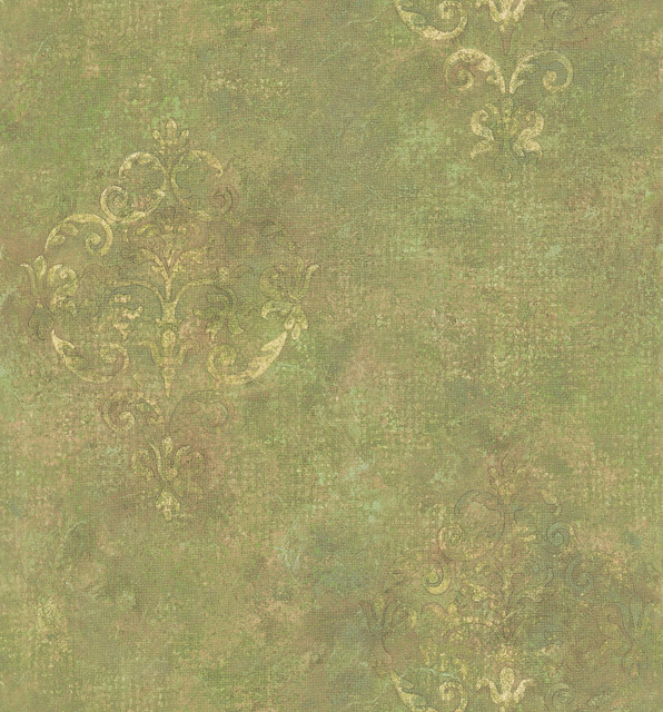 Modern Wallpaper Sage Green Metallic Faux Grasscloth: Sage Green Wallpaper