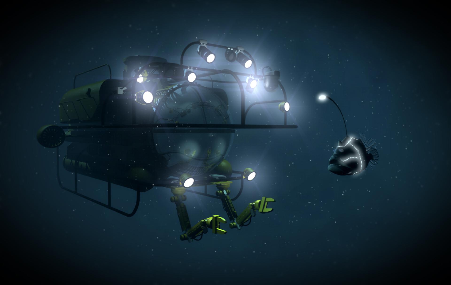 Deep Sea Encounter Desktop and mobile wallpaper Wallippo 1920x1215