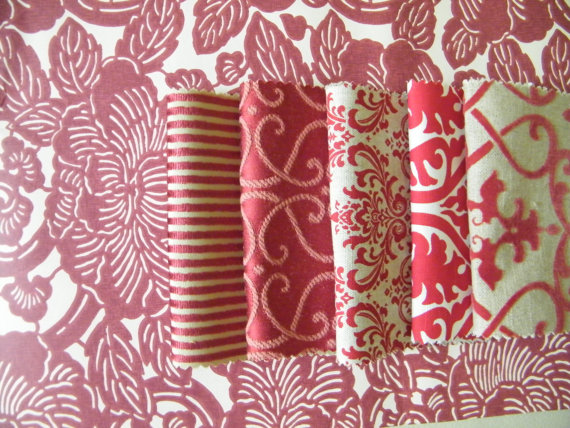 Items similar to Wallpaper Sample and Matching Fabric Samples on Etsy 570x428